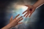 7052367-hand-of-christ-reaching-down-from-heaven-to-grab-the-hand-of-man
