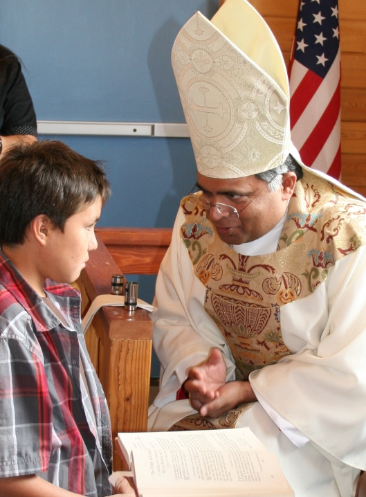 Confirmation of Chief Washakie's great, great, great grandson. Photo by Holly Michael